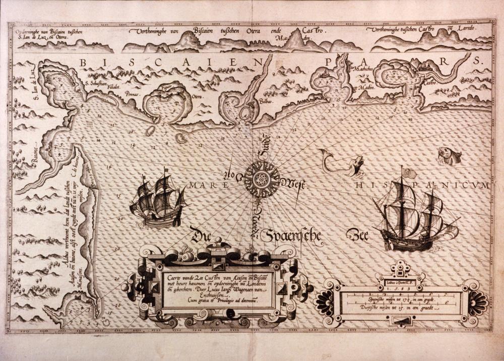 Itsas-Mapa. L.J. Waghenaer. Leyden, 1583 © Euskal Museoa Bilbao