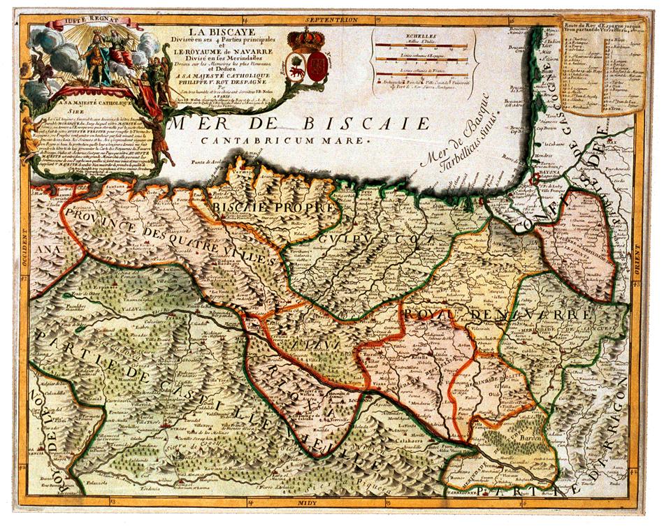 Mapa. Jean Baptiste Nolin. Paris, 1702- 1704